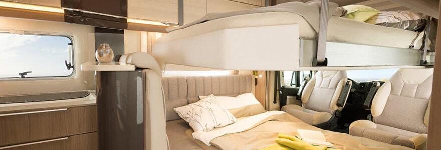 lit pavillon de camping car